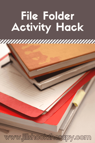 File Folder Activity Hack by Jill Shook Therapy. Save time and cutting with this trick!