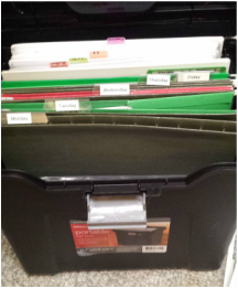 organize folders for students