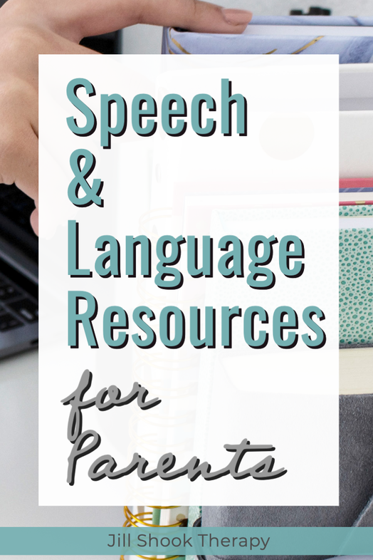 Resources and links for speech and language resources for parents